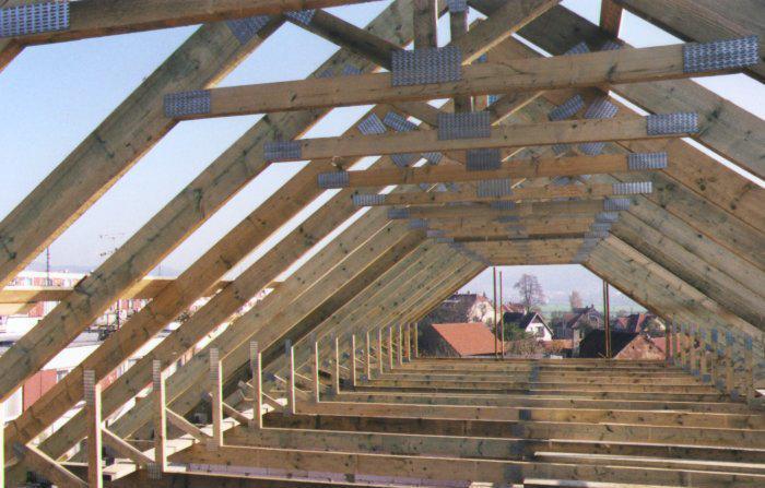Стропильная система мансардной крыши фото